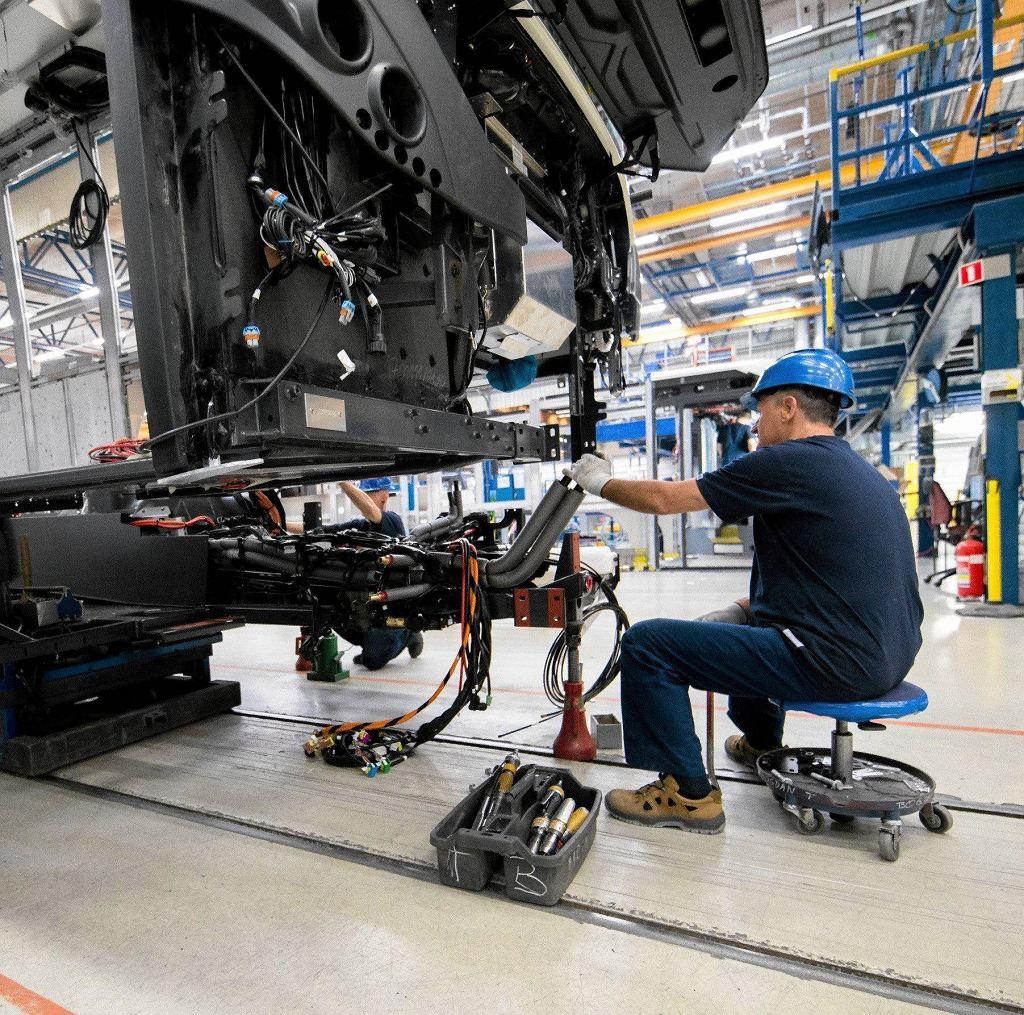 Praca we wrocławskich zakładach Volvo
