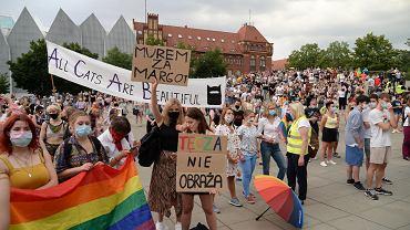 Demonstracja Wszystkich nas nie zamkniecie! Szczecin solidarny z zatrzymanymi.
