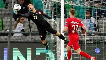 Łukasz Fabiański w meczu ze Słowenią