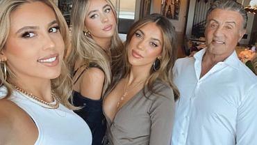 Sylvester Stallone z córkami - Sophie, Sistine i Scarlet