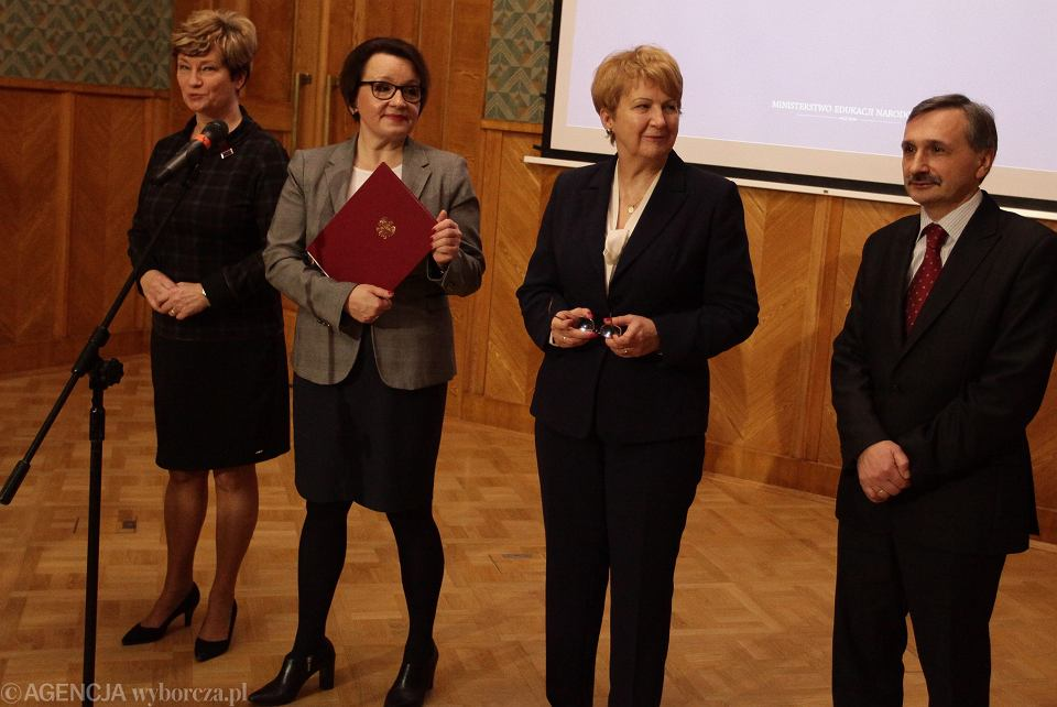 Marzena Drab,  Anna Zalewska, Teresa Wargocka i Maciej Kopeć podczas prezentacji programu