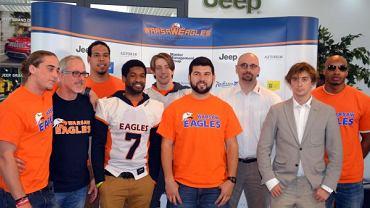 Od lewej: Blake Wayne, Phillip Dillon, Caleb Singleton, Clarence Anderson, Filip Mościcki, Jamie Boyle, Jacek Wallusch, Jacek Śledziński i Andre Whyte