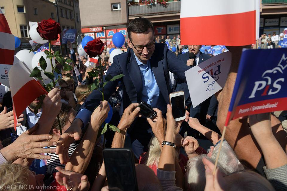 Wybory parlamentarne 2019. Wizyta premiera Mateusza Morawieckiego w Ząbkowicach Śląskich