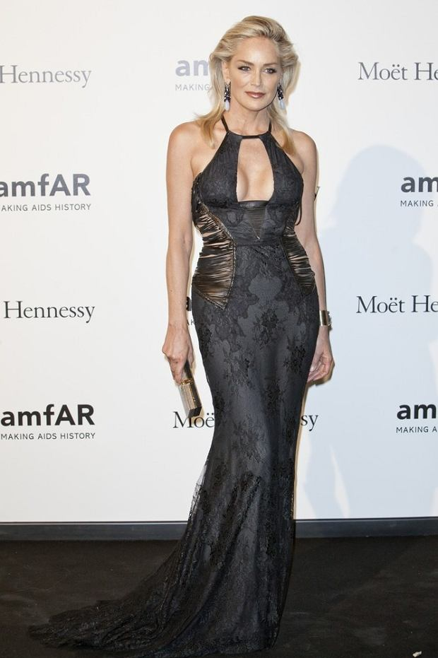Sharon Stone attending amfAR Milano 2012 during Milan Fashion Week at La Permanente in Milan, Italy, on September 22, 2012. Photo by Marco Piovanotto/ABACAPRESS.COM