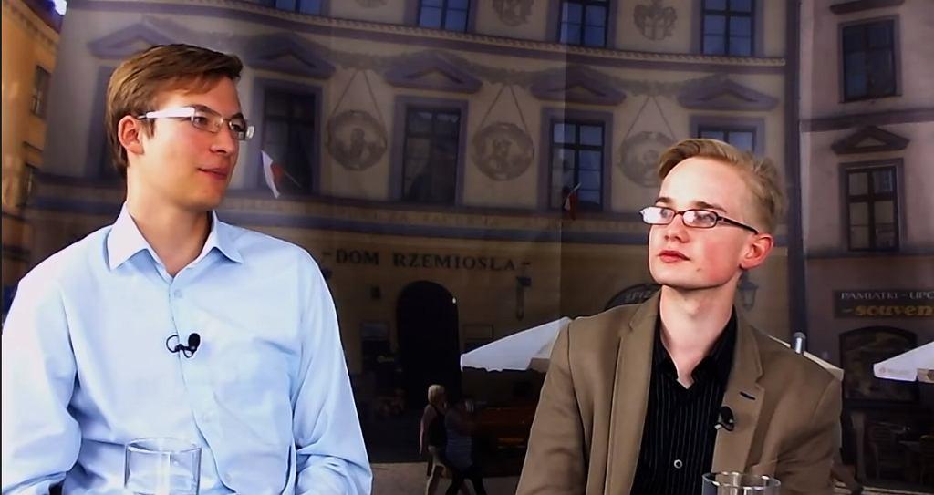 Od lewej Szymon Dziubicki i Piotr Patkowski