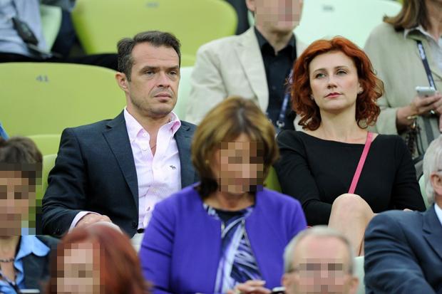 PHOTO: BARTOSZ KRUPA/EAST NEWS  POZNAN 22/06/2012  VIP-Y NA MECZU NIEMCY - GRECJA.  N/Z: SLAWOMIR NOWAK