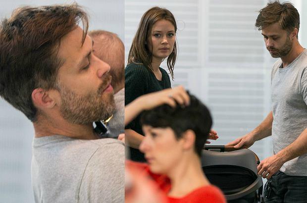 Zdjęcie numer 0 w galerii - Maciej Zakościelny z dziewczyną i synem w kawiarni. Aktor jest bardzo troskliwy!