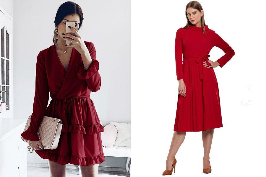 Czerwona sukienka na andrzejki