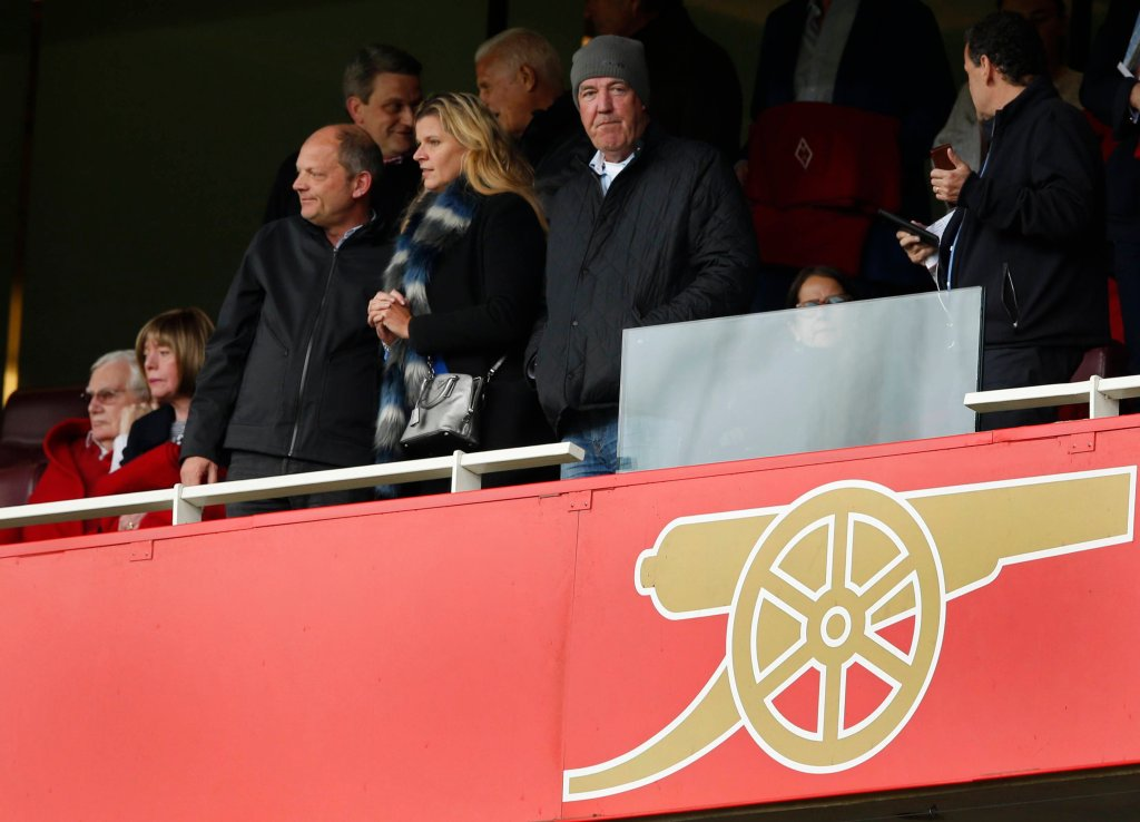 Jeremy Clarkson podczas meczu Arsenal - Chelsea