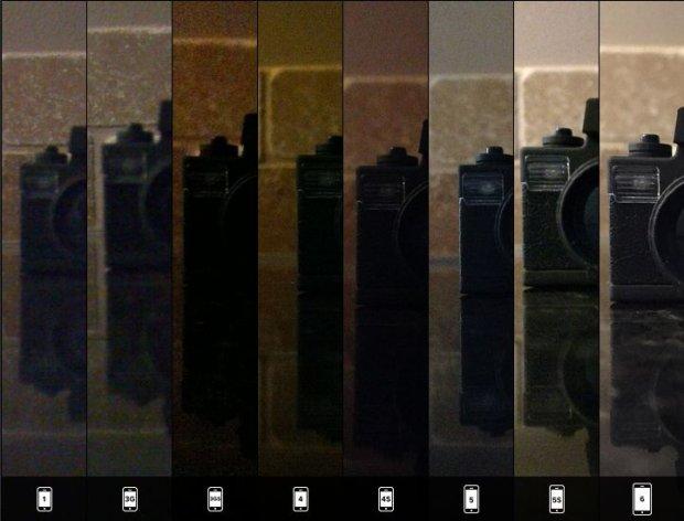 Szczegóły w słabym świetle - zestawienie zdjęć