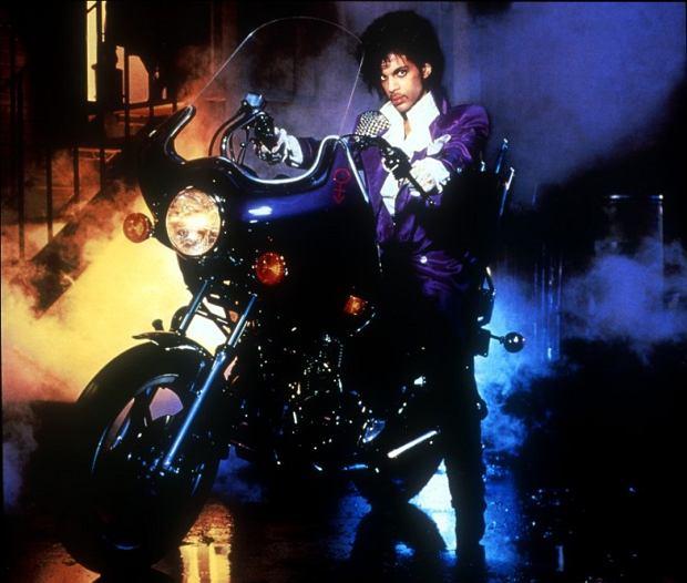 Fragment okładki płyty i filmu 'Purple Rain'