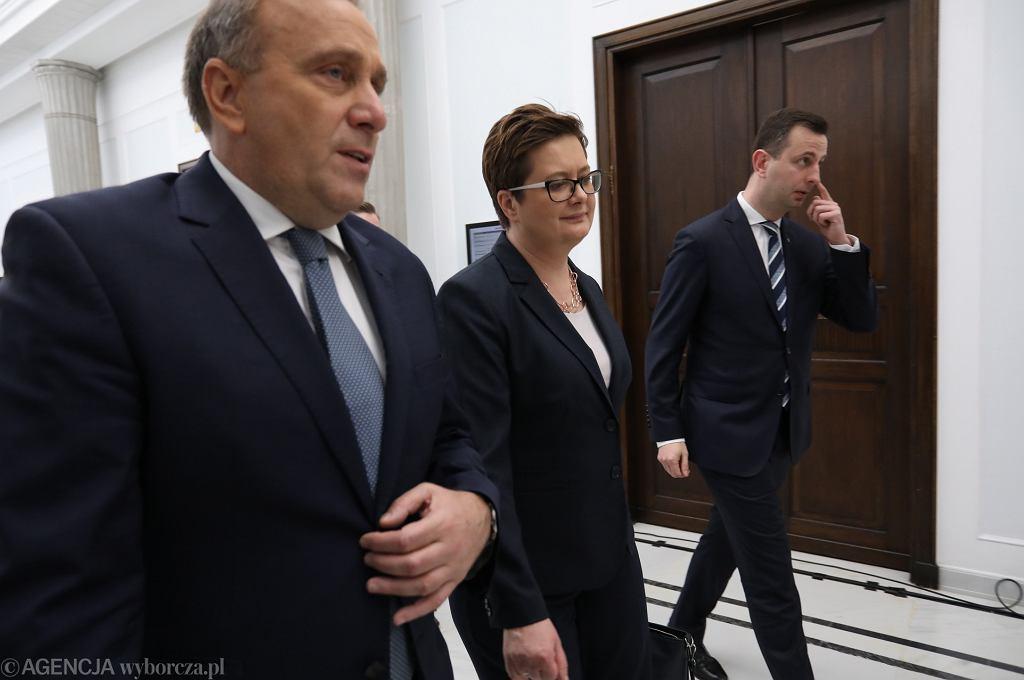 Grzegorz Schetyna (PO), Katarzyna Lubnauer (Nowoczesna), Władysław Kosiniak-Kamysz (PSL)