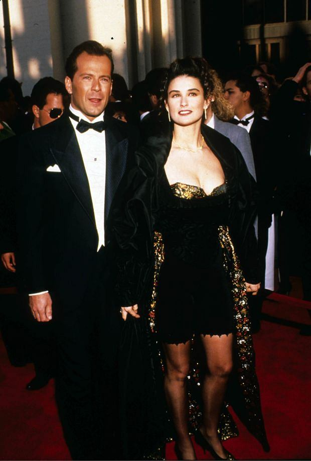March 28, 1989 - Hollywood, California, U.S. - F8061.BRUCE WILLIS & DEMI MOORE. 03/28/1989(Credit Image: ? Ralph Dominguez/Globe Photos/ZUMAPRESS.com)