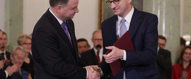 Andrzej Duda powołał nowy rząd. Mateusz Morawiecki z podwójną funkcją