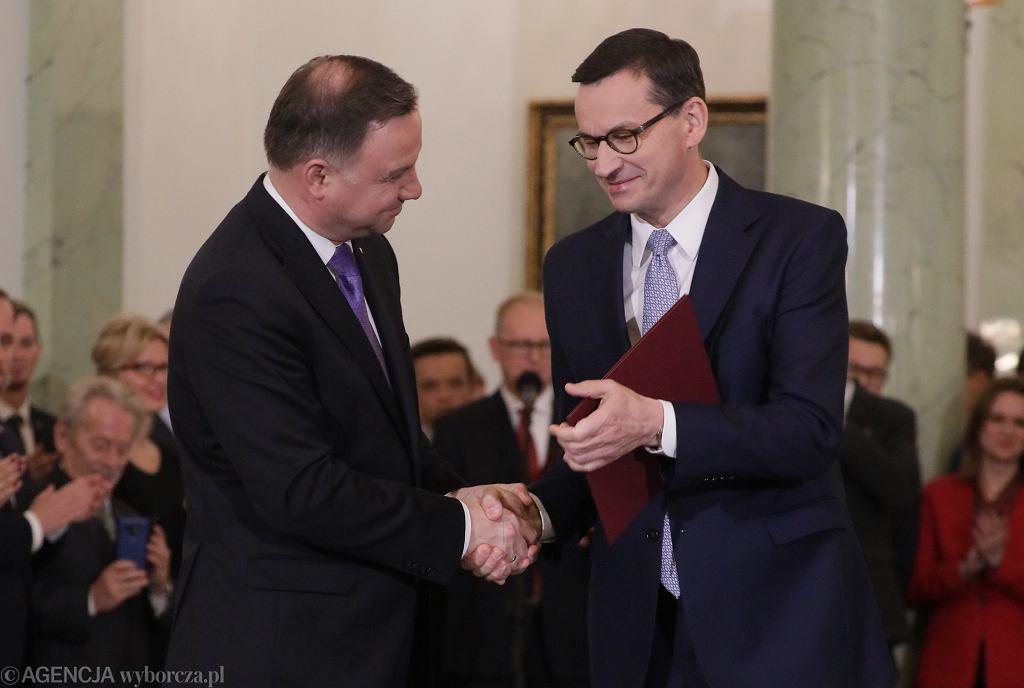 Zaprzysiężenie rządu premiera Mateusza Morawieckiego