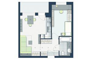 Jak wydzielić sypialnię w 45-metrowym mieszkaniu?