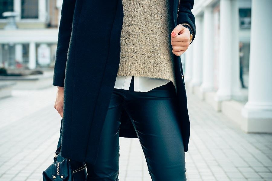 Woskowane spodnie