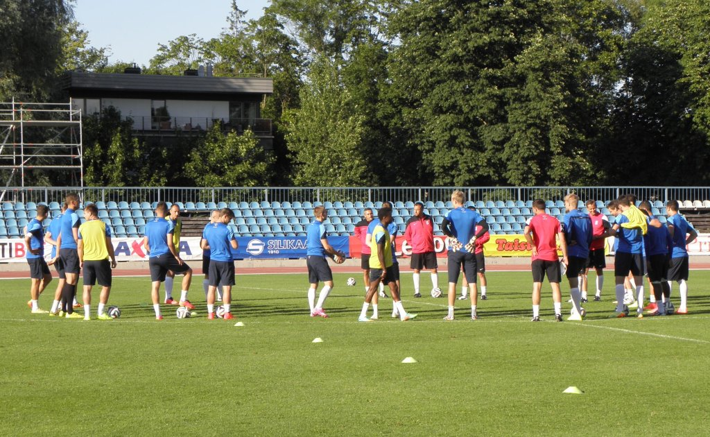 Trening Lecha Poznań przed meczem z Kalju Nomme