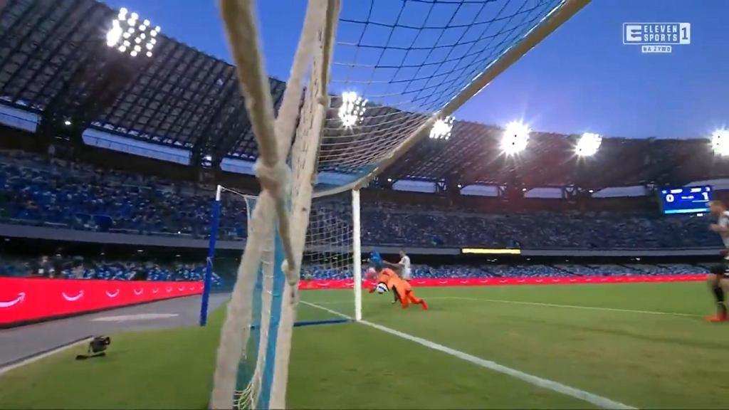 Wojciech Szczesny w meczu z Napoli