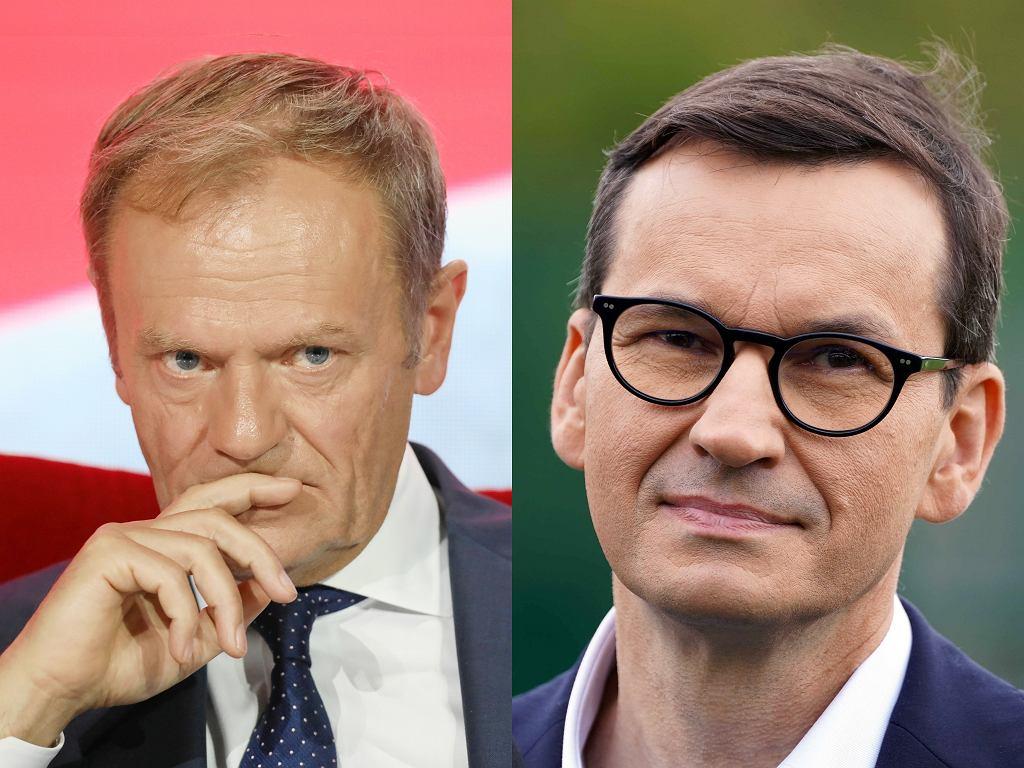 Donald Tusk i Mateusz Morawiecki.