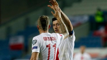 Gibraltar - Polska 0:7. Kamil Grosicki i Robert Lewandowski