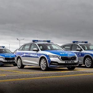 ŠKODY OCTAVIA iV z napędem hybrydowym typu plug-in w służbie polskiej policji