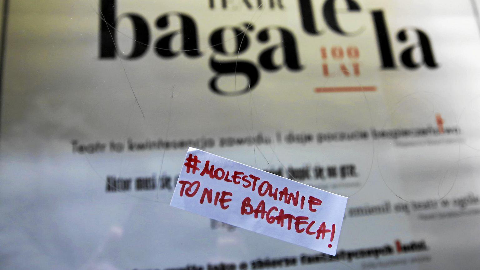 Oskarżony o molestowanie seksualne dyrektor Teatru Bagatela został odwołany ze stanowiska