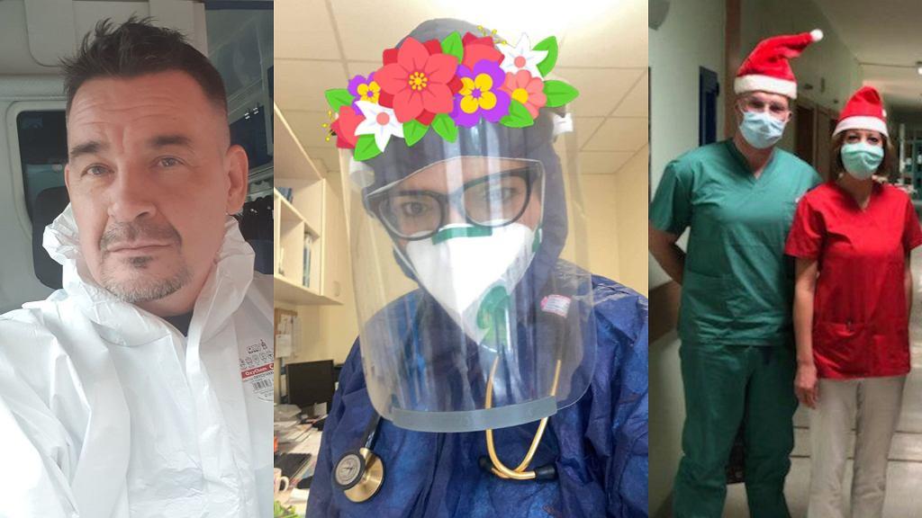 od lewej: Adam Piechnik, Izabela Dudeńko i Krzysztof Kępa z pracownikami oddziału kardiochirurgii Górnośląskiego Centrum Medycznego w Katowicach