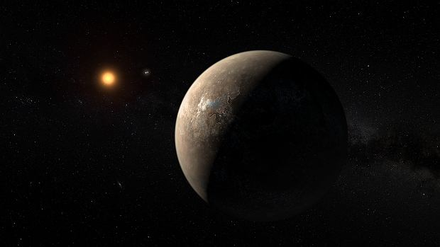 Proxima Centauri b na wizji artystycznej ESO