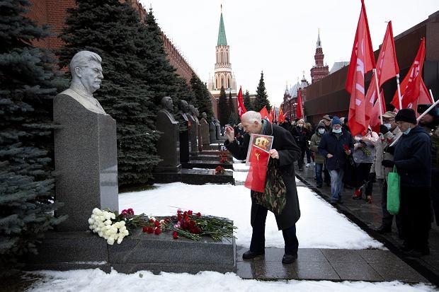 141. urodziny Stalina, Plac Czerwony w Moskwie, 21 grudnia 2020 r.