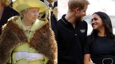 Królowa Elżbieta II, książę Harry, Meghan Markle