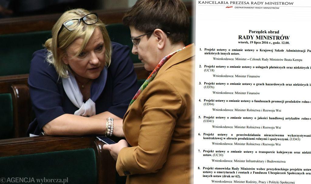 Beata Kempa i Beata Szydło