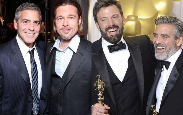 Brad Pitt, George Clooney oraz George Clooney i Ben Affleck