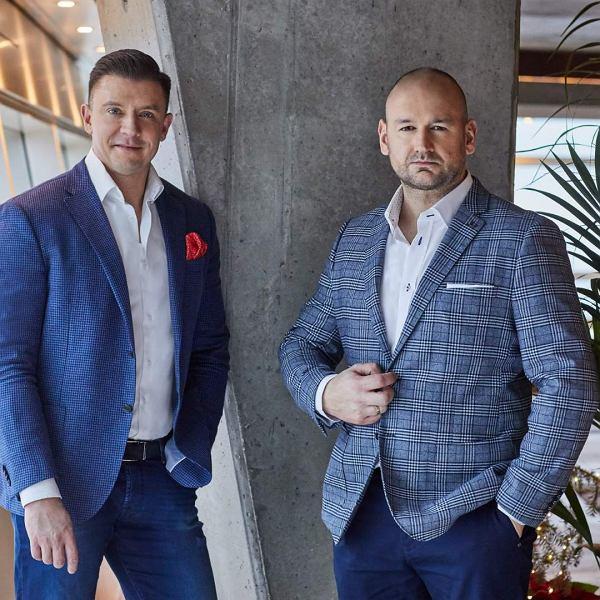 Od lewej: Bartosz Tomczyk, przewodniczący zarządu Fintechu Provema i Jakub Kukuła, założyciel cateringu Kukuła Healthy Food