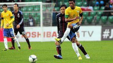 Paulinho w meczu reprezentacji Brazylii