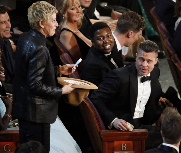 Ellen DeGeneres, Brad Pitt