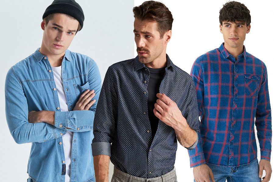 Męskie koszule jeansowe