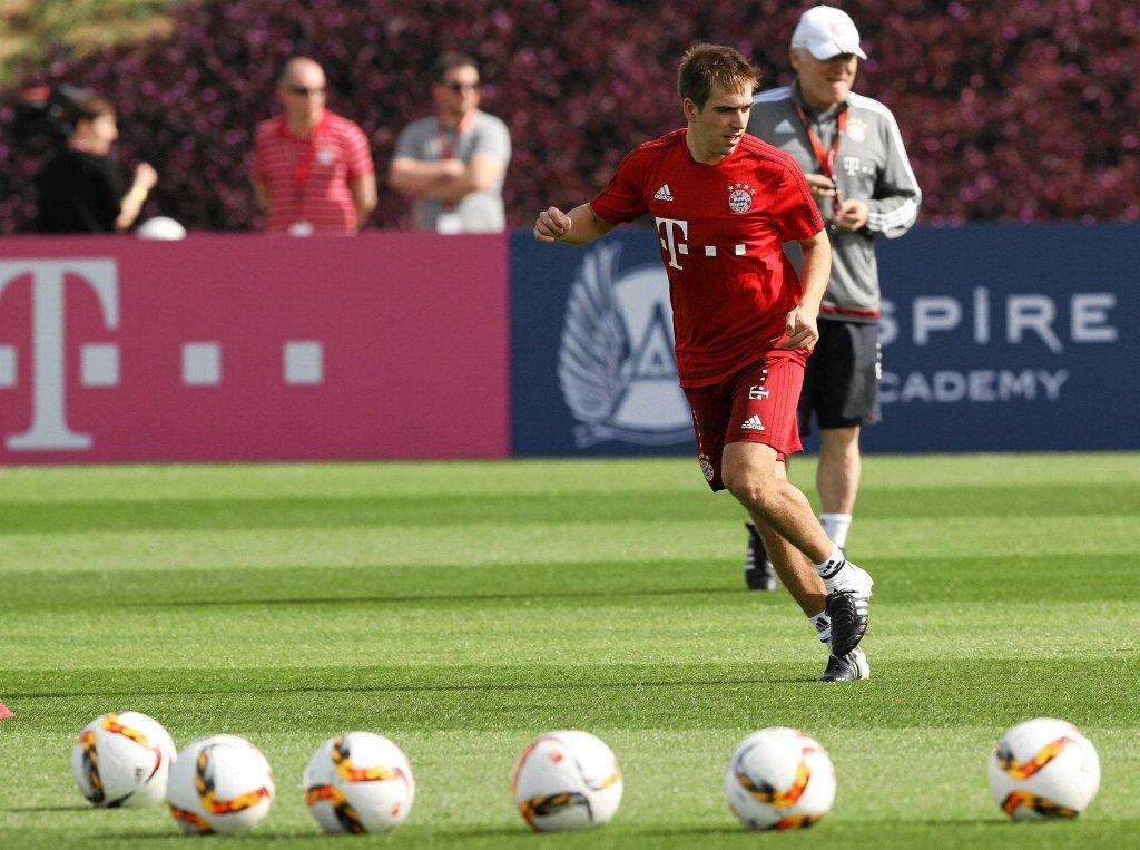 Piłkarze Bayernu przygotowują się do drugiej części sezonu. Na zdj. Philipp Lahm