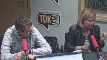 Joanna Solska w studiu radia TOK FM