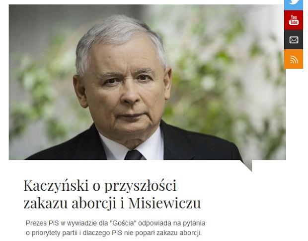 Kaczyński deklaruje zakaz aborcji ze względu na wady genetyczne płodu