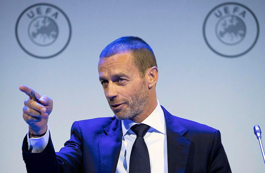 Prezydent UEFA Aleksander Ceferin