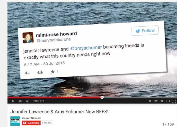 Sieć o przyjaźni Lawrence i Schumer