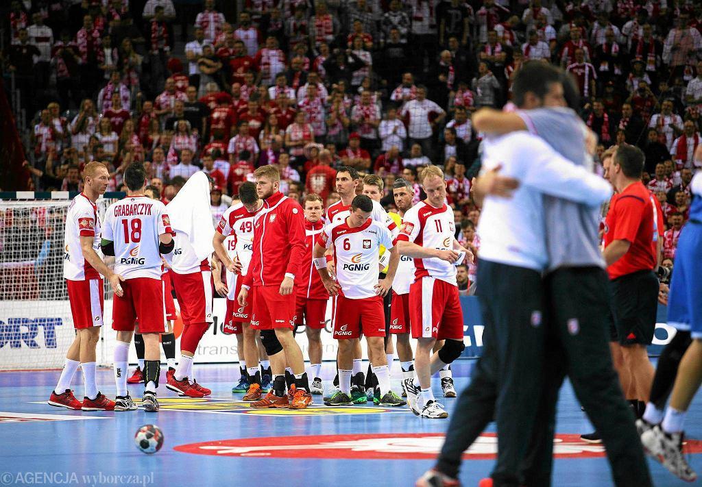 Radosc Chorwatow po wygranym meczu Polska - Chorwacja