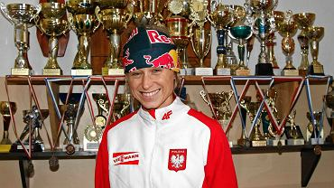 Krystyna Pałka w swojej dawnej szkole w Czerwiennem