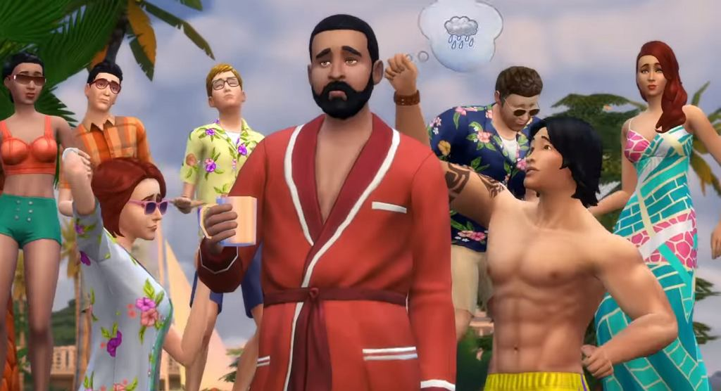 Kadr z gry The Sims 4