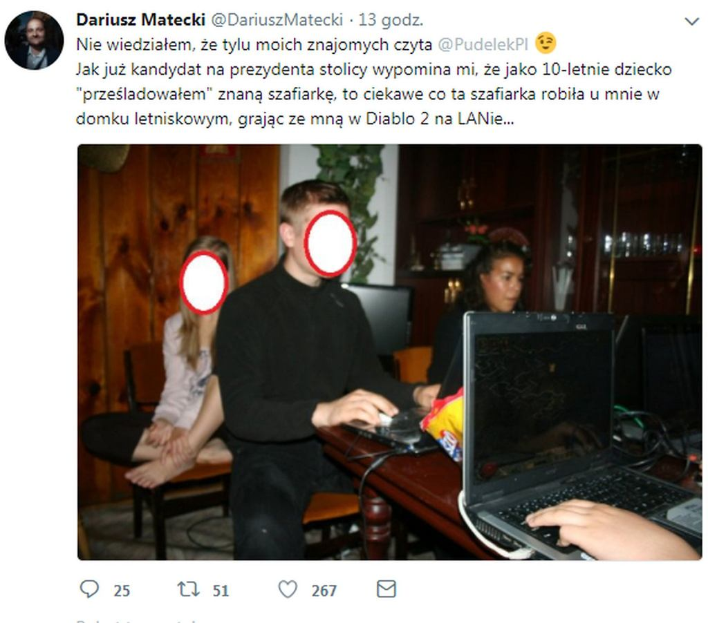 wpis Dariusza Mateckiego