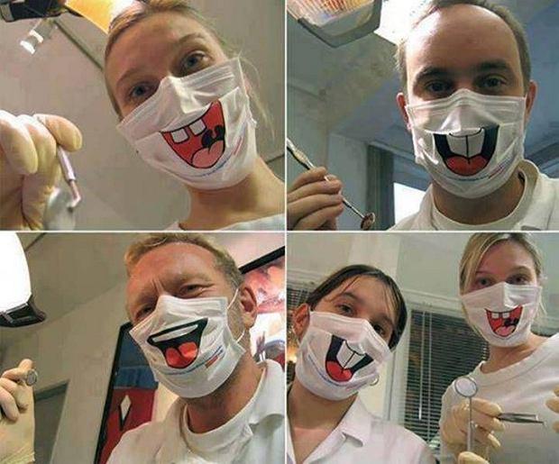 Maski dla dentystów. Sprawdzą się też w kolejce do Biedronki.