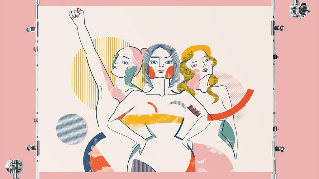 Plakat Izy Bułeczki 'Sisterhood'.