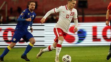 Piotr Zieliński w meczu z Andorą