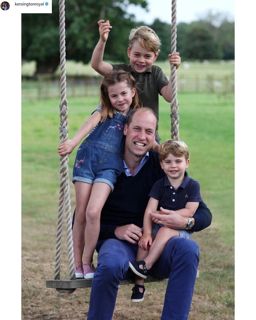 Księżniczka Charlotte, książę George, książę Louis, książe William